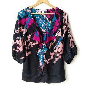 Diane Von Furstenberg silk floral blouse